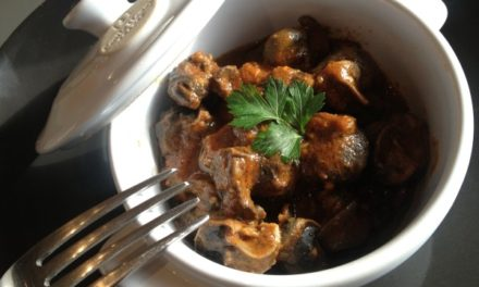 Mediteranean way snails in cooking pot