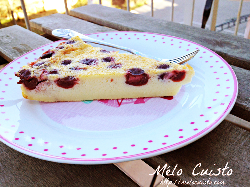 Morello cherry flan