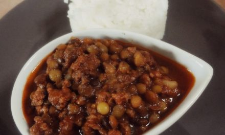 Le Puy green lentils in Chili con carne