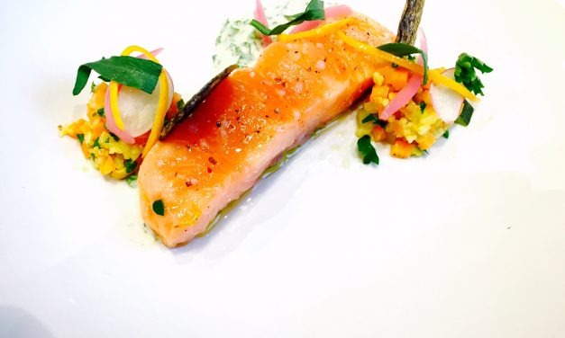 Salmon confit in olive oil and 4 cereals
