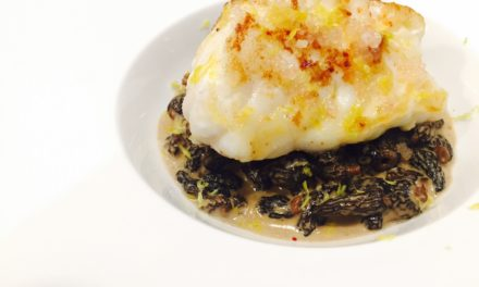 Roasted monkfish with Morels